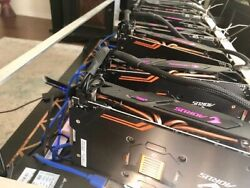 8 GPU RX570 4gb Crypto Currency Mining Rig 203 MHs Ethereum + other altcoins