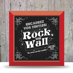 Red Vinyl Record Frame - Easily frame & display your favorite albums on the wall