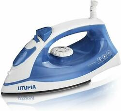 Steam Iron 1200 Watt Nonstick Sole plate Portable Small Size Utopia Home $14.00