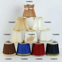 Pleat Lamp Shade Clip on E14 Bulb Table Light Floral Lampshade Wall Lamp Covers $22.16