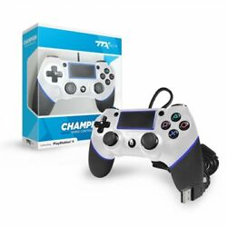 TTX CHAMPION Wired Controller for PS4 (Silver) New $20.99