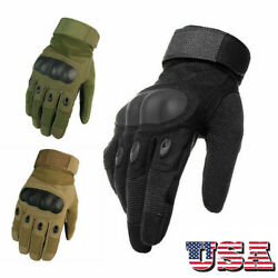 Tactical Gloves Hard Knuckle Full Finger Military Army Combat Hunting Shooting $10.69