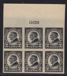 611 XF TOP plate block OG mint never hinged nice color cv $ 90 ! see pic !