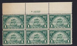 614 F-VF TOP plate block OG mint never hinged nice color cv $ 60 ! see pic !