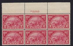 615 VF TOP plate block OG mint never hinged nice color cv $ 90 ! see pic !