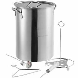 30 Qt. Stainless Steel Stock Pot Turkey Fry Pot with Lid and Accessories