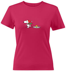 Snoopy Woodstock Winter Holiday Women Juniors Tee T Shirt Funny Gift Christmas $14.96