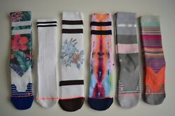 LOT OF 6 STANCE CREW CASUAL WOMEN'S SOCKS Medium M Grade B
