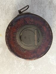 Vintage CHESTERMAN-SHEFFIELD ENGLAND Leather 50ft Tape Measure