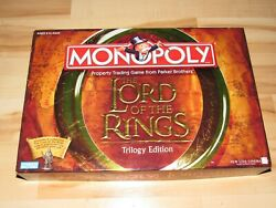Lord Of The Rings Trilogy Edition Monopoly Board Game Complete 2003