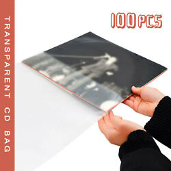 100X Antistatic Clear Outer Plastic Cover Sleeves For 12'' LP LD Vinyl Record