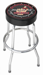 busted knuckle garage stool  plasticolor bar shop seat the work chrome stee man