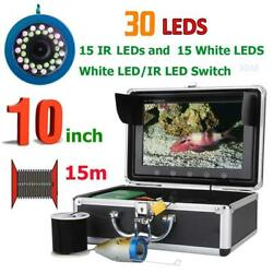 Underwater Camera Fish Finder Sea River Fishing 10quot; Screen Infrared Visible 1 3M $143.60