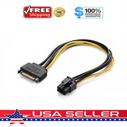 15pin SATA Power to 6pin PCIe PCI e PCI Express Adapter Cable for Video Card USA $2.99