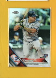 38825 GARY SANCHEZ 2016 TOPPS CHROME NY YANKEES ROOKIE REFRACTOR BK$18.75
