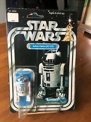 VINTAGE 1977 STAR WARS R2-D2 FIGURE 12 BACK CARD