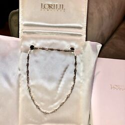 Ladies 14kt White Diamond Bar And Flower Necklace (Appraised At $8600)