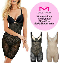 Maidenform Women's Lace Firm Control Open Bust Body Shaper Wear
