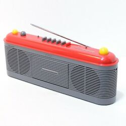 Sharp Retro Cassette Radio Boom Box QT-F40A in Red Working in Good Condition 80s