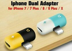 Headphone Adapter for iPhone 7 8 X Splitter Dual connector Accessories $4.99