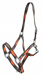 ORANGE 3 Ply Diamond Print Nylon Horse Size Halter! NEW HORSE TACK!