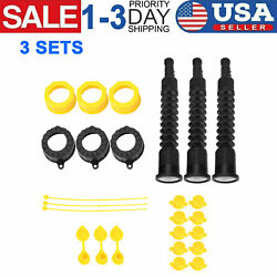 3 Sets Gas Spout Replacement Replace Old Gas Can Fill Kit Fuel Diesel Water Jug