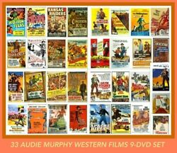 Audie Murphy (33) Western Films 9-Disc Complete DVD Movie Set Sierra Destry etc