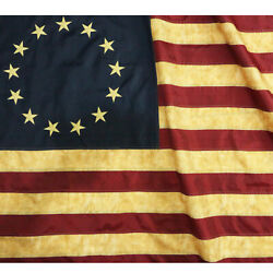 Anley Vintage Style Tea Stained Betsy Ross Flag 3x5 Foot Nylon Antiqued Flags $15.95