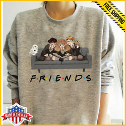 Friends Harry Potter Hermione Sweatshirt Happy Sweatshirt Unisex Grey S-5XL