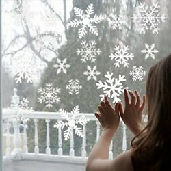 Xmas Snowflake Window Sticker Wall Decal Xmas Home Decoration Removable USA