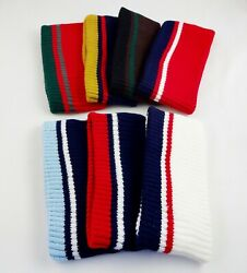 Knit Headband Ear Warmer Acrylic One Ribbed Knit With Stripes 3 Inches Wide $10.99