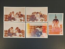 5x Atrractive Young Men & Woman Couples Drinking & Making Out Fun Photos Vtg 70s