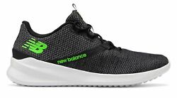 New Balance Men's CUSH+ District Run Shoes Black with Grey & Green