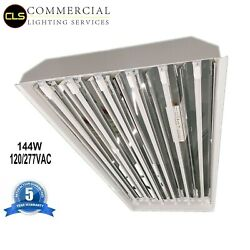 (2) T5 LED 8 Tubes High Bay 25600LM Warehouse Shop Commercial Light Fixture USA $238.00