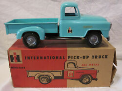 1960's IH Vintage Eska Tru-Scale Light Blue Pick-Up Truck New in Box Very Rare!