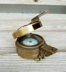 Solid Brass Antique British Military Prismatic Pocket Compass Marine Solid Gift $28.50