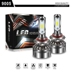 TURBOSII 9005 HB3 H10 9145 360° CSP LED Headlight Bulb Kit 12000LM Bulbs 6000K