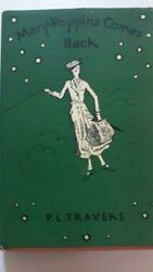 Mary Poppins Comes Back by PL Travers 1935 Hardcover  book1st Edition