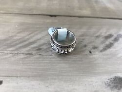 NWT BRIGHTON CRYSTAL VOYAGE SILVER-PLATED RING-Size 6