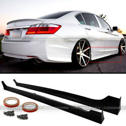 For 13-17 Honda Accord 4Dr JDM MD Style Unpainted Side Skirts Splitter Extension $123.99