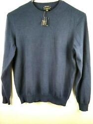Cashmere Sweater Mens Pullover Long Sleeve NWT Club Room Size XL  Dark Blue