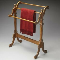 Butler Specialty Newhouse Blanket Stand in Vintage Oak