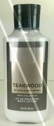 BATH AND BODY WORKS*TEAKWOOD*Mens Lotion Cream*NEW*Free Shipping AUTHENTIC $12.95