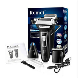 KEMEI-6559 3In1 USB Rechargeable Adult Electric Razor Hair Clipper Razor Tool US