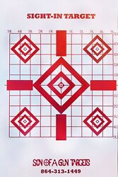 50 Pack Shooting Paper Targets Precision Sight In Target $17.09