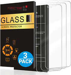 For iPhone 12 11 Pro Max XR X XS Max 8 7 Tempered GLASS Screen Protector 3 PACK $5.85