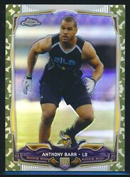 2014 Topps Chrome MINI STS Camo Refractor rookie #161 Anthony Barr rc MINT 99 $9.99