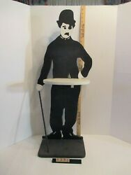 VERY RARE! Amazing Charlie Chaplin Wooden Butler's Table