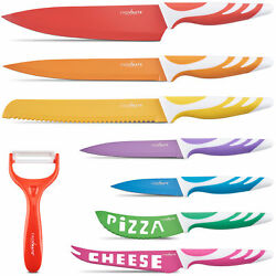 Chopmate Stainless Steel Non-Stick Ceramic Coated 8 Piece Kitchen Knife Set