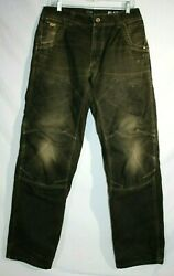 KUHL The LAW Patina Dye Pants Mens  Size-32 x 34  Distressed Khaki Brown